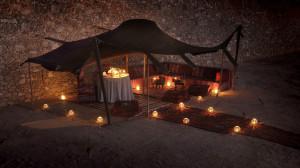 Berber Tent candlelight dinner